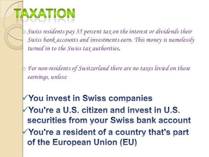 Swiss Bank Accounts Bleeding The Country