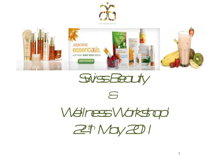 Swiss Beauty  &  Wellness Workshop! 24 th  May 2011 1
