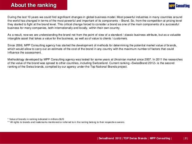 SwissBrand 2012 - TOP 50 Swiss Brands Slide 2