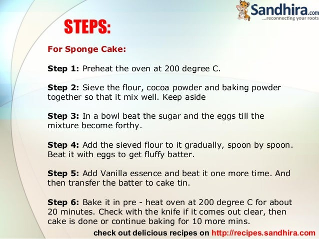 Chocolate Cake Recipe With Pictures Step By Step
