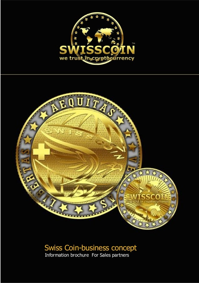 Swiss Coin-business concept Information brochure  For Sales partners