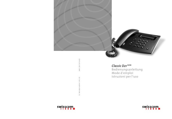 Swisscom D21 Manual