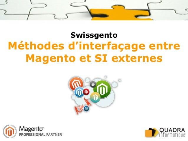 Swissgento Méthodes d'interfaçage entre Magento et SI externes