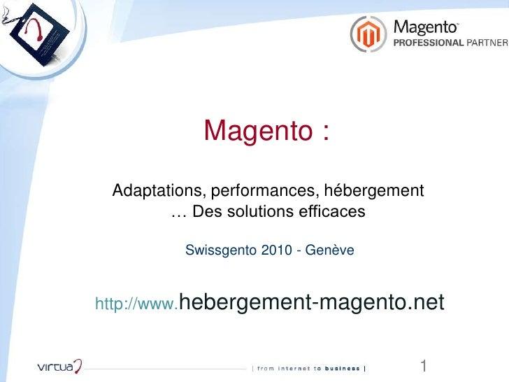 Virtua : Performances Magento : Solutions efficaces et accessibles