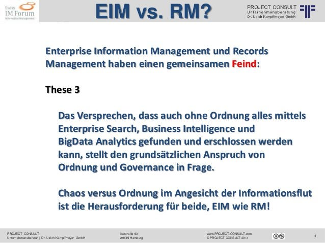PROJECT CONSULT Unternehmensberatung Dr. Ulrich Kampffmeyer GmbH www.PROJECT-CONSULT.com © PROJECT CONSULT 2014 Isestraße ...