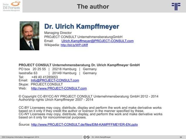 © PROJECT CONSULT Unternehmensberatung Dr. Ulrich Kampffmeyer GmbH 2011 / Autorenrecht: <Vorname Nachname> Mai-15 / Quelle...