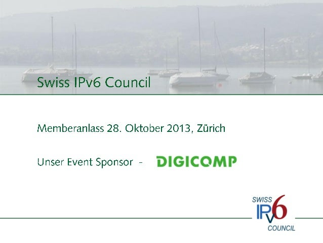Introspeech von Silvia Hagen, 28.10.2013, IPv6 Entwicklung