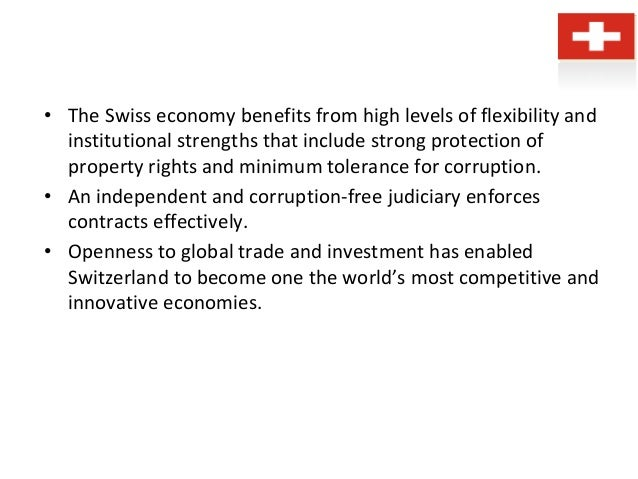 an overview of the industrialized economy of switzerland The world economic outlook (weo) database contains selected macroeconomic data series from the statistical appendix of the world economic outlook report, which.