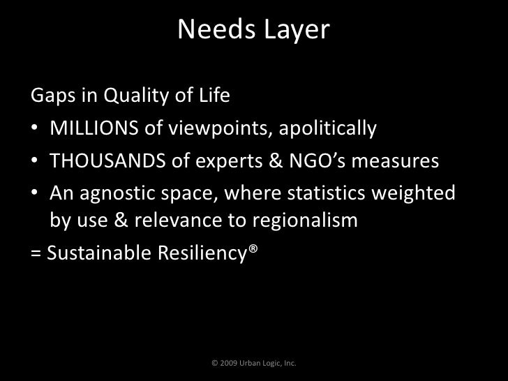 Needs Layer<br />Gaps in Quality of Life<br />MILLIONS of viewpoints, apolitically<br />THOUSANDS of experts & NGO's measu...