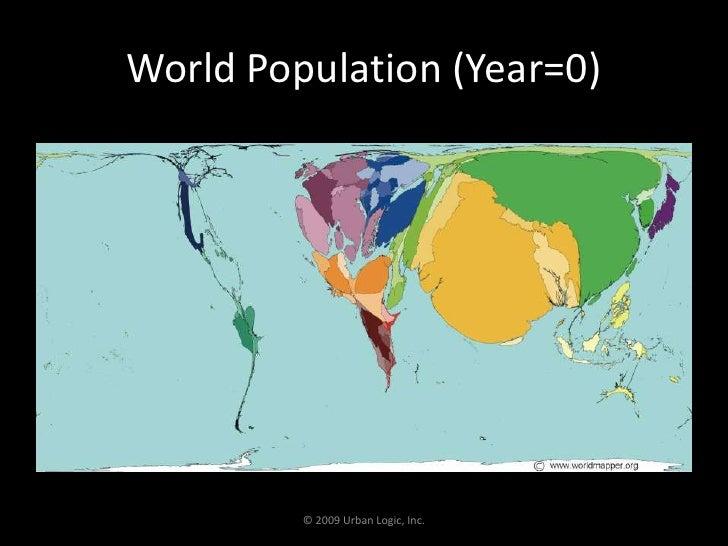 World Population (Year=0)<br />© 2009 Urban Logic, Inc.<br />