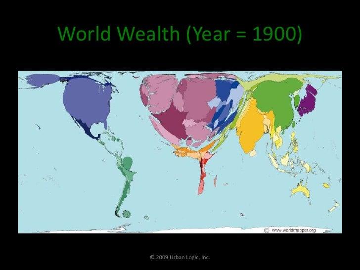 World Wealth (Year = 1900)<br />© 2009 Urban Logic, Inc.<br />