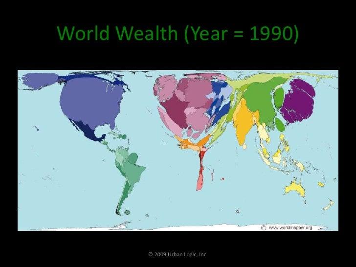 World Wealth (Year = 1990)<br />© 2009 Urban Logic, Inc.<br />