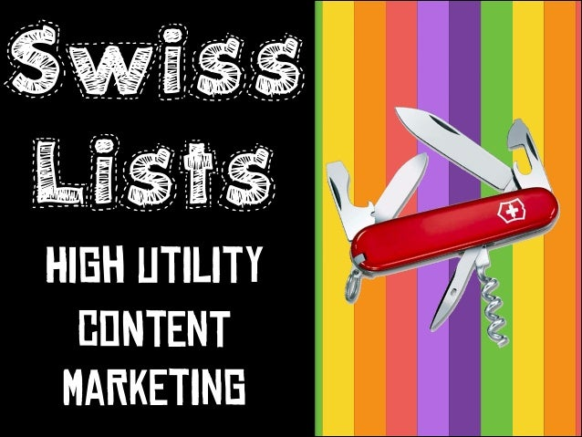 Swiss Lists istly  HiGh UtIlItY CoNtEnT MaRkEtInG