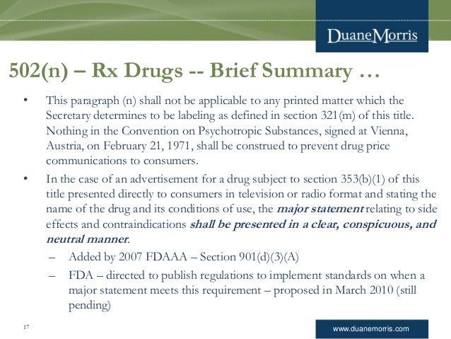 regulations of prescription drug advertising essay Federal regulation of prescription drug advertising rately the regulations governing prescription drug advertising and those governing prescription drug labeling.