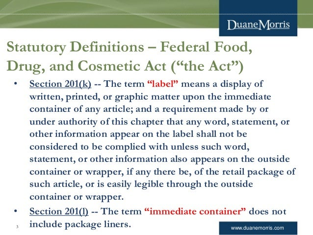 FDA Regulation of Drug and Device Advertising and Promotion -- The Basics Slide 3
