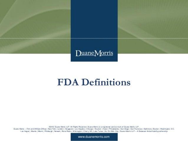 Overview of FDA Regulation of Medical Devices Slide 3