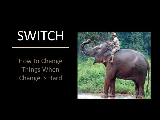 How to Change Things When Change is Hard SWITCH