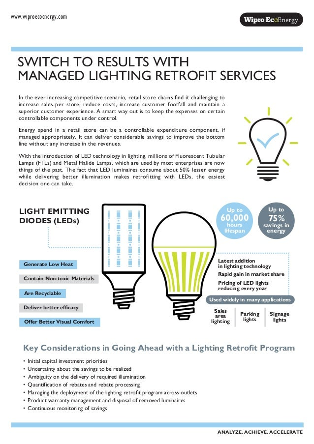 Key Considerations in Going Ahead with a Lighting Retrofit Program • Initial capital investment priorities • Uncertainty a...