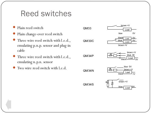 3 wire reed switch wiring diagram switches and sensors  switches and sensors