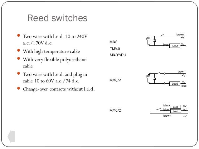 switches-and-sensors-18-638  Wire Reed Switch Wiring Diagram on 3-way electrical connection diagram, 3 wire house wiring, 3 wire fan diagram, 3 wire dimmer switch diagram, 3 wire switch loop diagram, cooper 3 way switch diagram, 3 wire switch schematic, 6 prong toggle switch diagram, 14 3 wire diagram, 3 wire lighting diagram, 3 wire circuit diagram, 3 pole switch diagram, 3 wire light switch, 12 3 wire diagram, lutron 3-way switch diagram, 3 switches 1 light diagram, two way switch diagram, easy 3 way switch diagram, 3 prong switch diagram,
