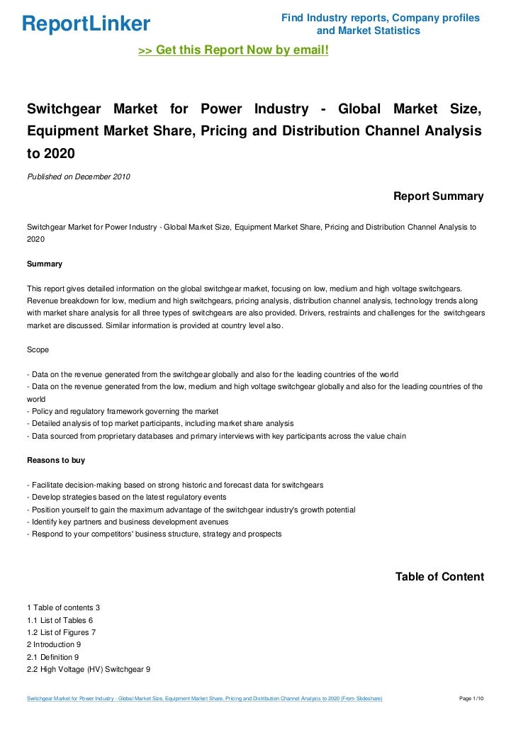 market analysis switchgear market for power industry According to the report, global switchgear market was valued at usd 899   share will reach usd 1568 billion, globally: zion market research  power  plant transformation and restoration, growth in renewable power.