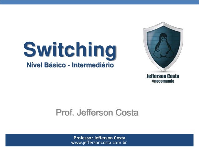 Professor Jefferson Costa  www.jeffersoncosta.com.brSwitchingNível Básico -IntermediárioProf. Jefferson Costa