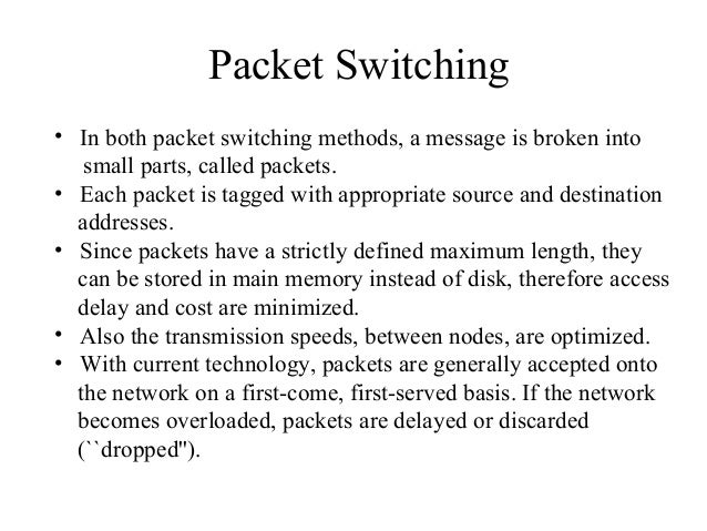 Switching techniques Datagram Packet Switching