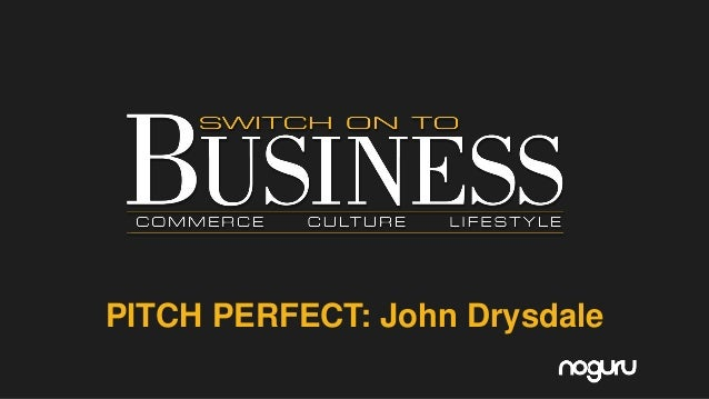 """""""Pitch Perfect"""" for Switch on to Business 31st August 2016"""