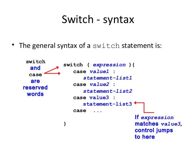 switch case in java
