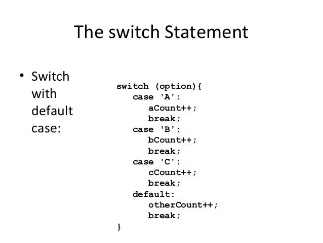 Switch statements in java - Switch case java ...