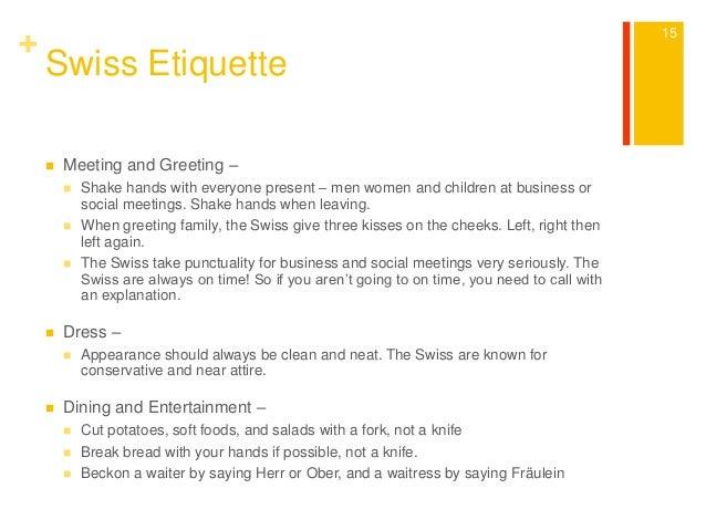 business etiquette in switzerland