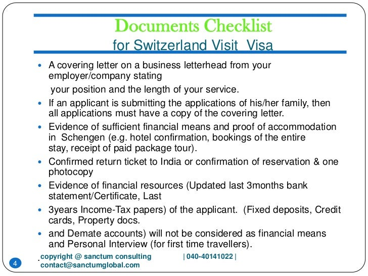 Switzerland visit visa sanctum consulting