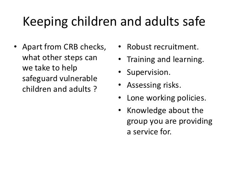 safeguarding and volunteering 20 keeping children and adults