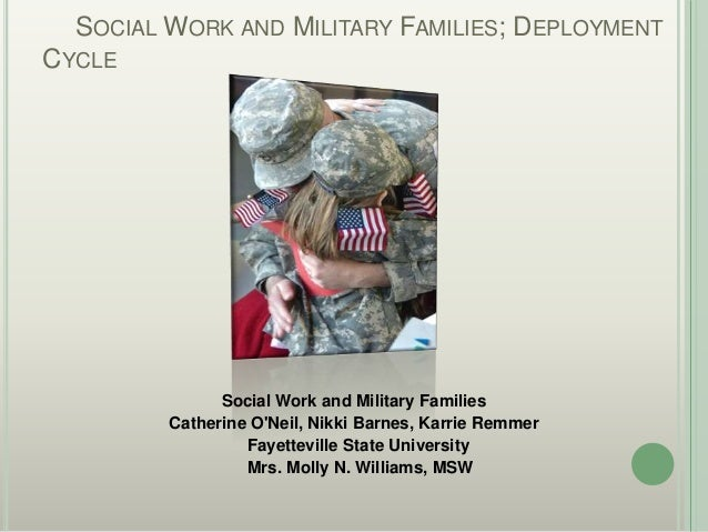 SOCIAL WORK AND MILITARY FAMILIES; DEPLOYMENTCYCLE               Social Work and Military Families         Catherine ONeil...