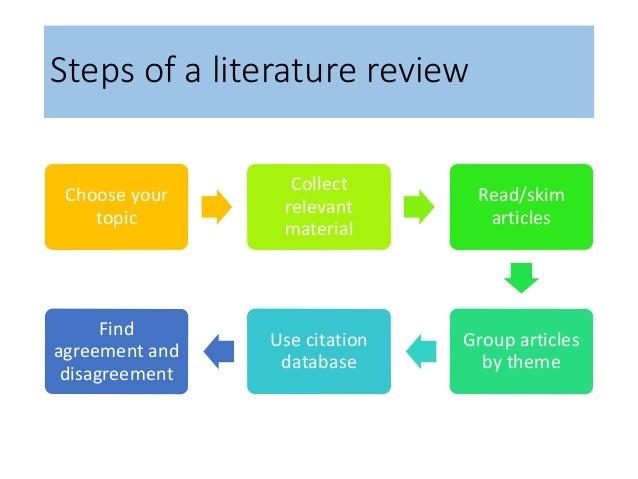 social work literature review topics