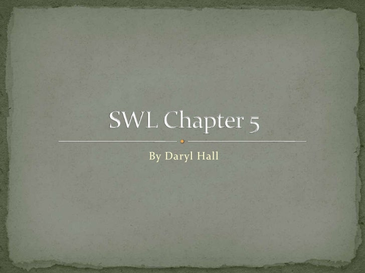 By Daryl Hall<br />SWL Chapter 5<br />