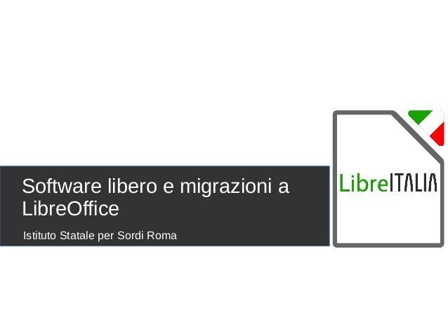 Software libero e progetti di migrazione for Progetto software