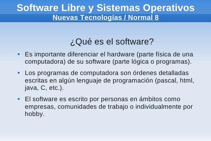 Software libre y nuevas tecnologías