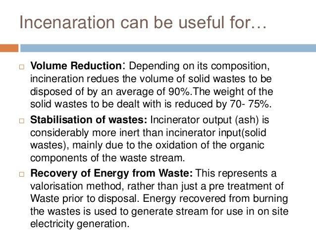 incineration of solid waste pdf