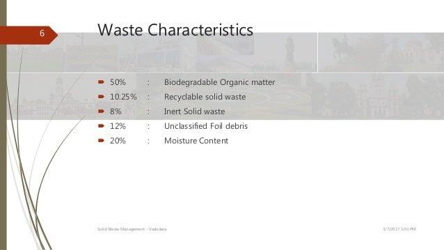 Solid Waste Managememnt Of Vadodara City