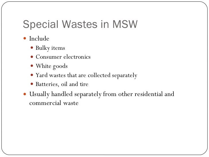 Solid Waste Management: Characterization By Muhammad Ikram B A Wahab