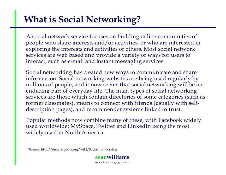 ... 12. What is Social Networking?