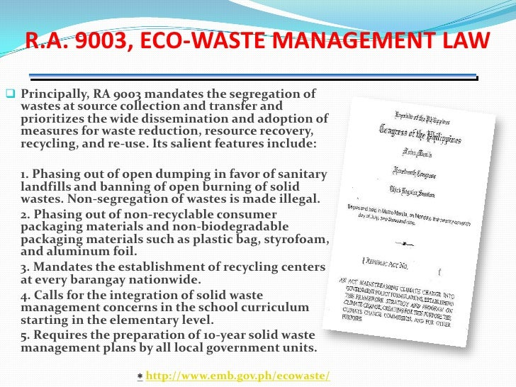 solid waste management in the philippines pdf