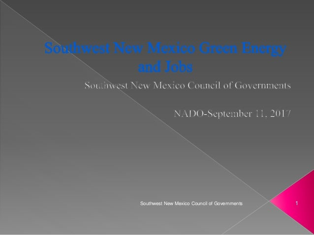 1Southwest New Mexico Council of Governments