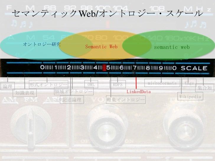セマンティックWeb/オントロジー・スケール<br />オントロジー研究<br />Semantic Web<br />semantic web<br />microformats<br />tags<br />OWL<br />RDFS<br...