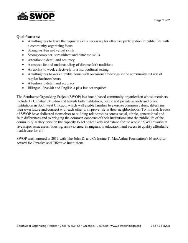 2 - Data Specialist Job Description