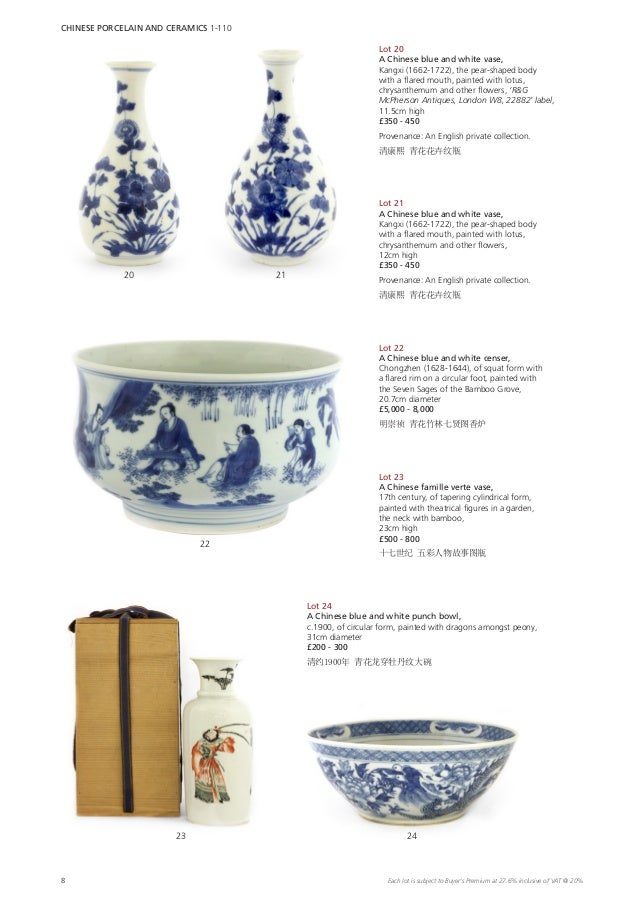 "4.7/"" Chinese Blue White Porcelain Bamboo Grove Seven Sages Hexagon Brush Pot竹林七贤"