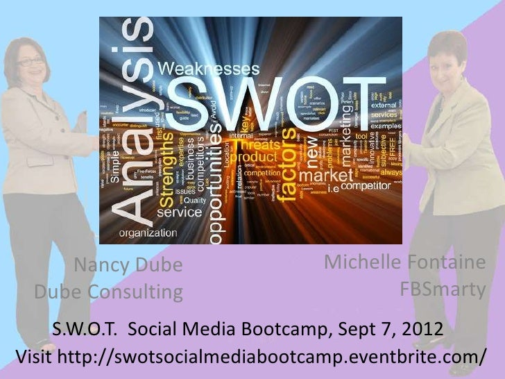 Nancy Dube                   Michelle Fontaine Dube Consulting                         FBSmarty     S.W.O.T. Social Media ...