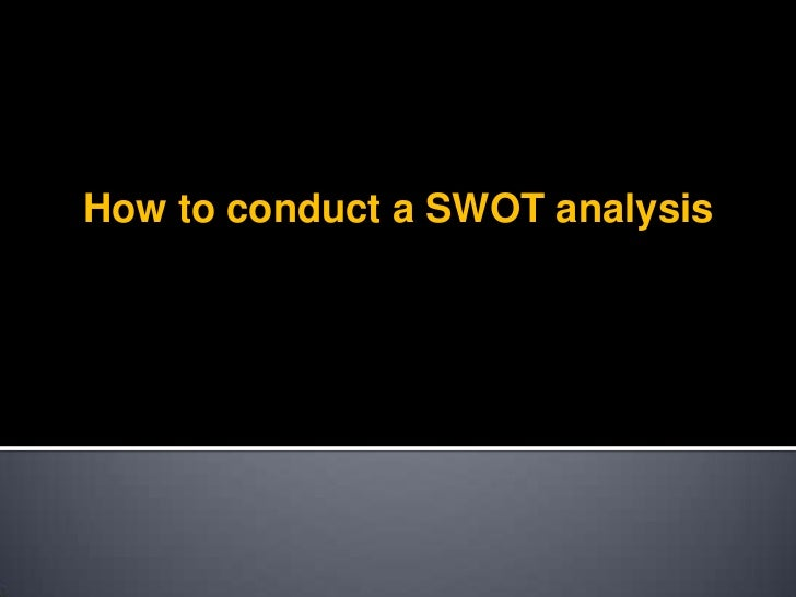 SWOT 2012 HOW TO
