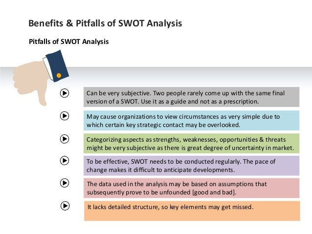 advantages of disadvantages of swot analysis In order to get an overview of advantages and disadvantages of biofuels, a swot analysis was conducted in the framework of the project biofuel marketplace separated swot analysis for different types of biofuels is necessary since their life cycles.